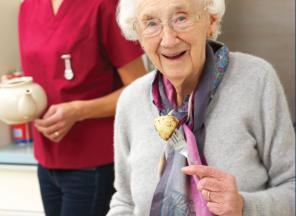 Senior Women eating